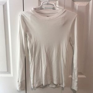Never been worn Gap supersoft white long sleeve.